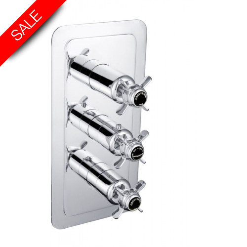 Just Taps - Grosvenor Pinch - Concealed/Thermostatic 3 Outlet Valve