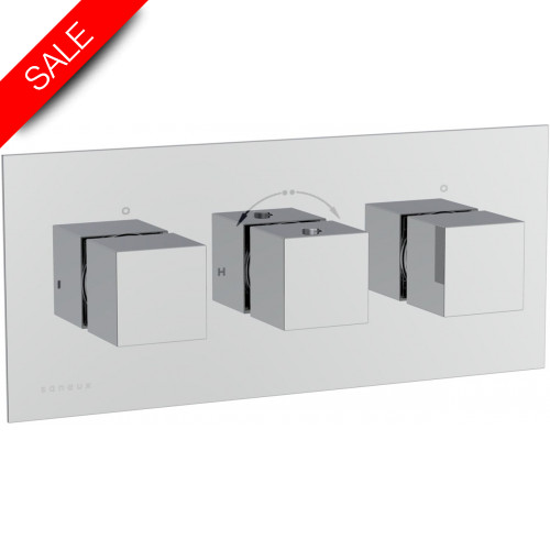Saneux - Tooga 3-Way Thermostatic Shower Valve - Landscape Version