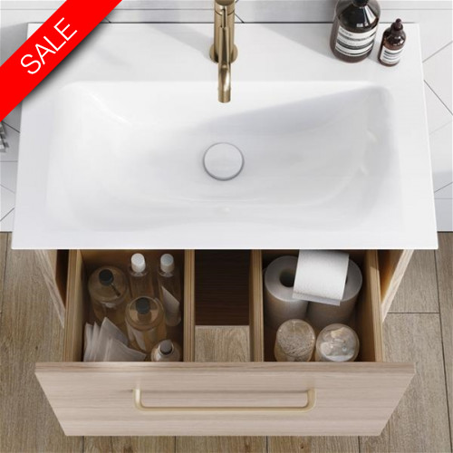 Bauhaus - Arena F 600mm Basin With Overflow 1TH
