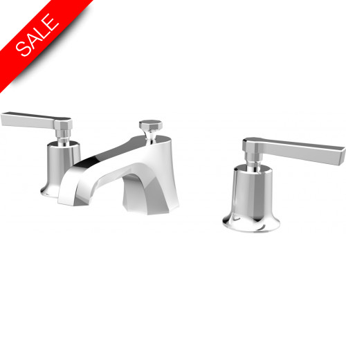 Saneux - Cromwell 3TH Basin Mixer With Waste - Lever Handle